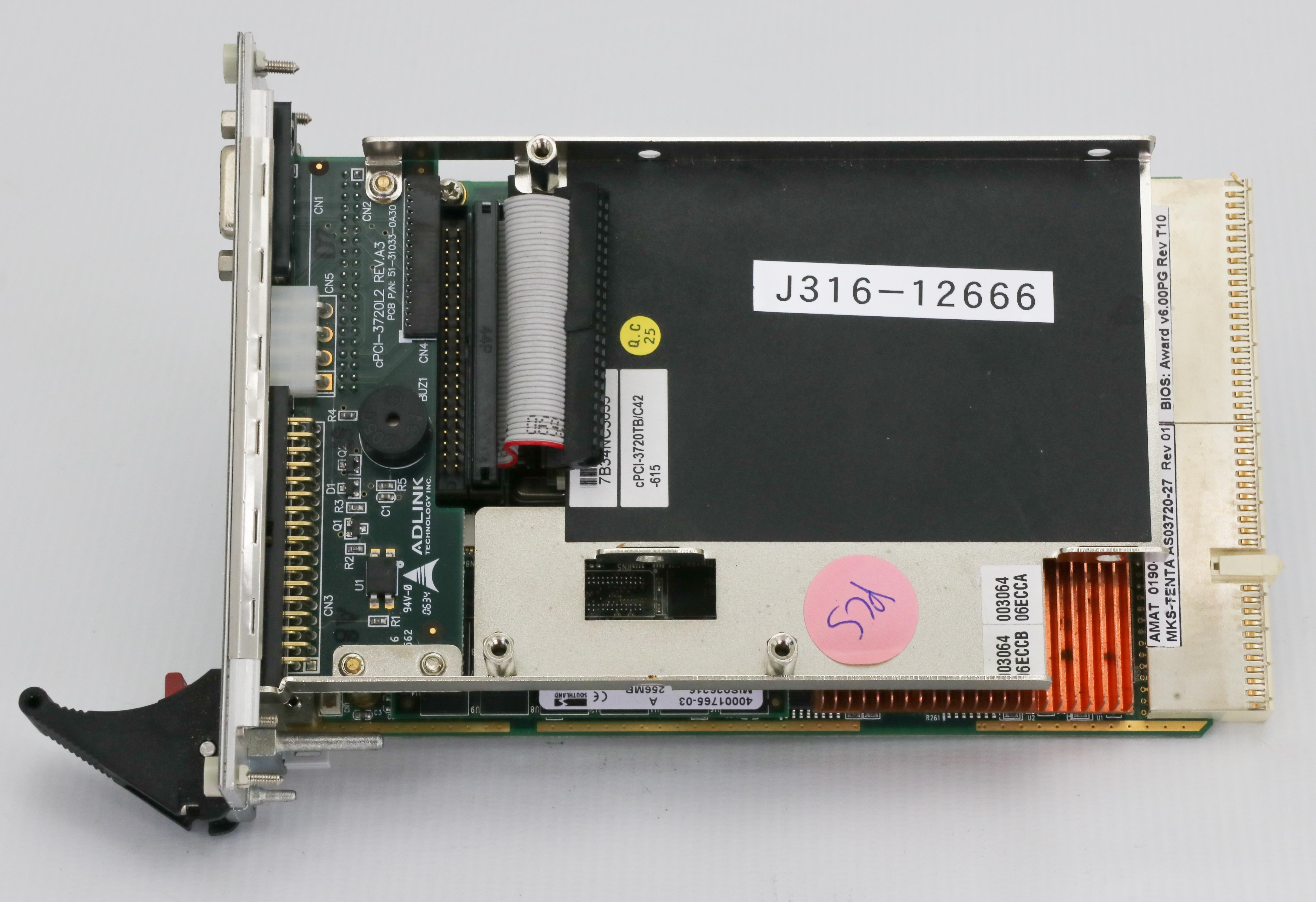 12666 APPLIED MATERIALS COMPACTPCI LOW PWR DUAL-SLOT CPU MOD