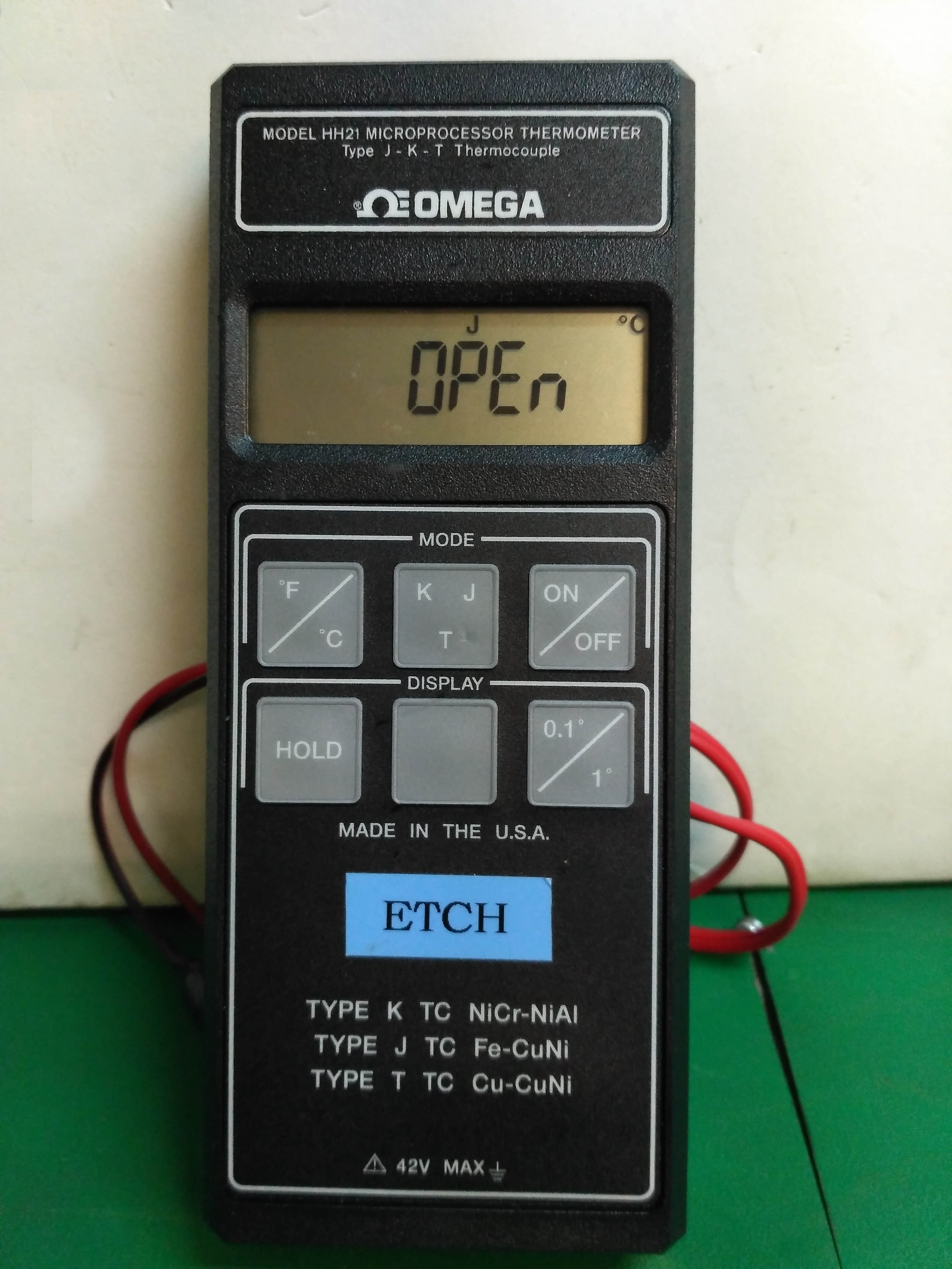 5181 OMEGA MICROPROCESSOR THERMOMETER TYPE J-K-T