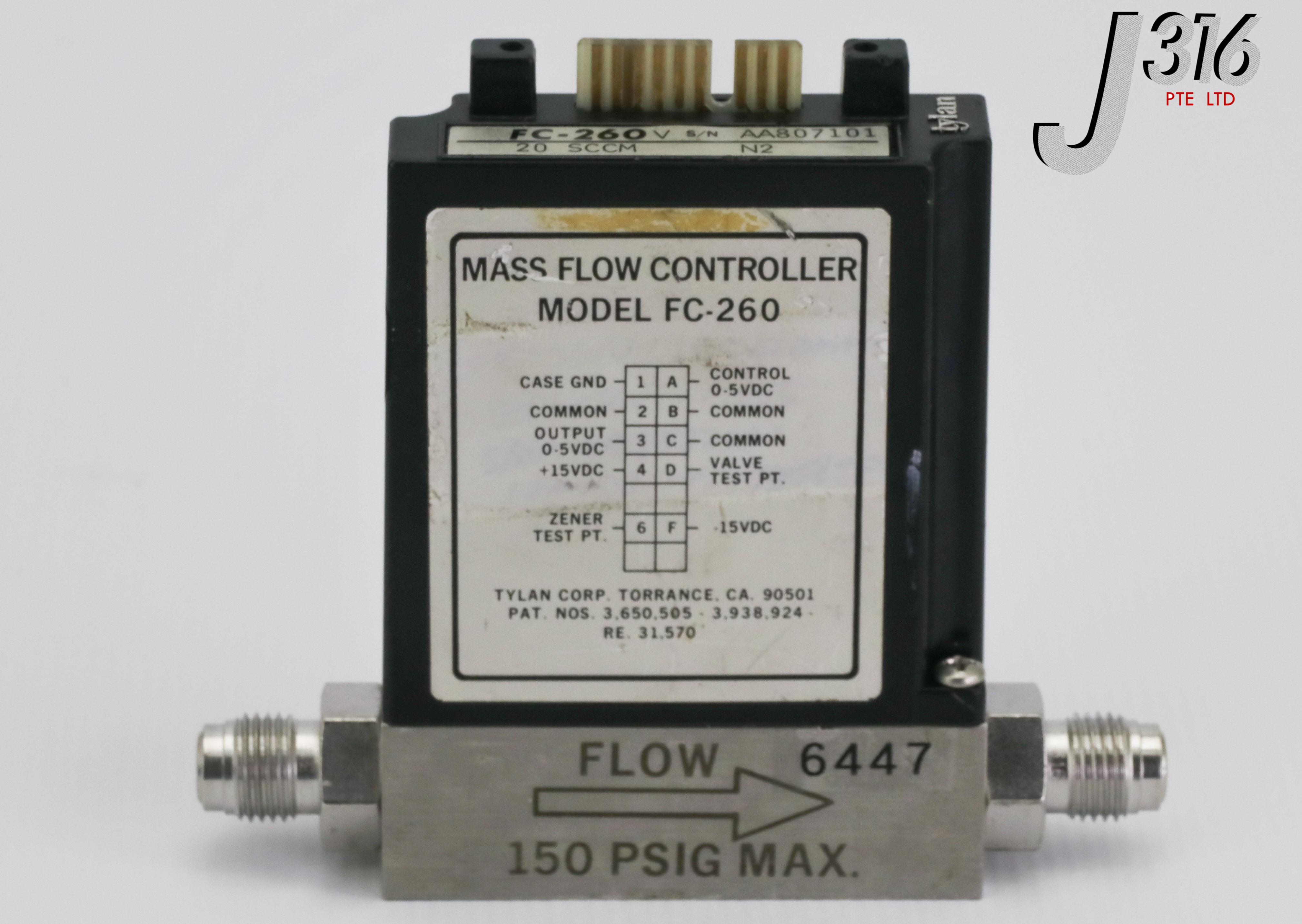 Tylan FC-260 MFC Mass Flow Controller FC-260V 100 SCCM